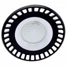 Corp iluminat LED, 100W, 9000 lm, aparent / suspendat, D 30 cm, IP65, lumina rece, negru