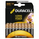 Baterie Duracell Basic, AAA, Alkaline, 18 buc