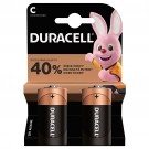 Baterie Duracell Basic, C / R14, alcalina, 2 buc