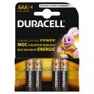 Baterie Duracell Basic, AAA, Alkaline, 4 buc