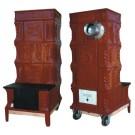 Soba teracota, pe lemne, mobila, tip A, cu plita, 7 kW, 1250 x 460 x 560 mm
