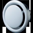 Anemostat metalic, Vents, cu flansa, 100 mm