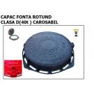 Rama + capac canalizare D400 FCD805 rotund