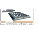 Gratar compozit necarosabil 38x53(30x45)