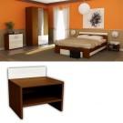 Dormitor Raul - noptiera cires lombardia + alb