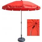 Umbrela soare pentru terasa rotunda structura metal rosu D 220 cm