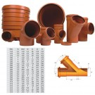 Ramificatie PVC cu inel, 125 x 125 x 45 mm