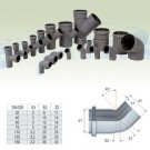 Cot PP HTB, pentru scurgere, D 32 mm, 45  grade