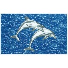 Covoras baie 79600, antiderapant, model delfin, 48 x 48 / 80 cm, set 2 bucati