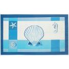 Covoras baie Friedola 77897, albastru, cu model marin, 80 x 50 cm
