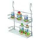 Suport pentru recipiente condimente 4012, 2 etajere, metal, 32 x 13.5 x 40 cm