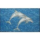 Covoras baie Friedola 77898, model delfin, alb / albastru, 80 x 50 cm