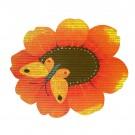 Covoras baie Friedola 23079, model fluture / floare, portocaliu, 67 cm
