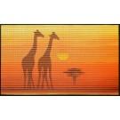 Covoras baie Friedola 77903, model Africa, portocaliu, 80 x 50 cm