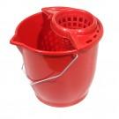 Galeata din plastic cu storcator 1369, rosie, 10L
