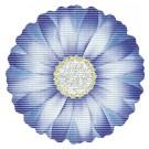 Covoras baie Friedola 77865, model floare, albastru, 67 x 67 cm