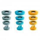 Dop universal 4 in 1, D36-D58 39224201, pentru lavoar, portocaliu, D 58 - 36 mm