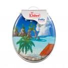 Capac WC cu burete si desen palmieri