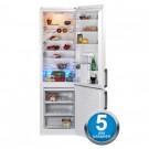 Combina frigorifica Beko DBK386WDR+, 325 litri, clasa A+, inaltime 201 cm, dispenser apa, alb