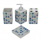 Set accesorii baie, ceramica, 4 piese, mozaic, Kadda 120130