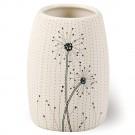 Pahar toaleta Vento AWD02190921, ceramica, crem / negru, 10.9 x 7.6 x 7.6 cm