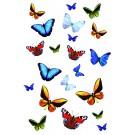 Autocolant pentru baie Kleine Wolke fluture 34013, multicolor, 0.23 x 0.34 m