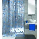 Perdea dus Kleine Wolke Bubble 34022, model buline, transparent + albastru, 180 x 200 cm