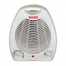 Aeroterma electrica Zass ZFH01, 2 trepte, 2000 W, 135 x 165 x 220 mm, termostat reglabil