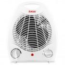 Aeroterma electrica Zass ZFH 01, 2 trepte, 2 kW, 135 x 165 x 220 mm, termostat reglabil