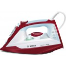 Fier de calcat Bosch TDA3024010, 2400 W, 0.32 l, 150 g/min, talpa Ceranium Glissee, alb cu rosu