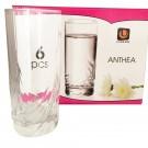 Pahar apa, Anthea 91230, din sticla, 265 ml, set 6 bucati