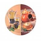 Tava rotunda pentru servire 60716, melamina, multicolor, 40 x 1.7 cm