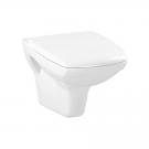 Vas WC suspendat Cersanit Carina Clean On, alb, capac inclus, evacuare orizontala