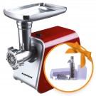 Masina de tocat carnea, electrica, Albatros MTA1200, functie Reverse, 1 kg/min, 1200 W, rosu + accesoriu suc rosii ST1000