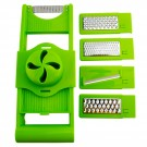 Razuitoare multifunctionala, Kasemi 1101852, plastic + inox, verde, 31 x 14 cm