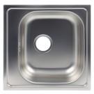 Chiuveta bucatarie inox satinat Doruq 1612D cuva pe dreapta 50x50 cm