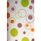 Perdea dus Hypo 4101, model buline, alb + portocaliu + verde, 180 x 180 cm