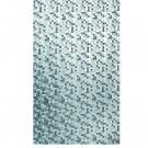 Perdea dus Mosaico, model mozaic, alb + vernil, 180 x 200 cm