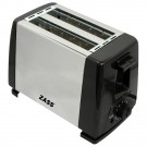 Prajitor de paine Zass ZST 08 A, 800 W, 2 felii, 5 trepte putere, negru + argintiu