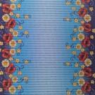 Covoras baie Aquamat, model cu flori, albastru, 65 cm