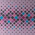 Covoras baie Aquamat, model romburi, lila / albastru / roz, 65 cm