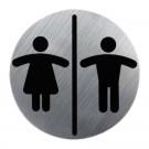 Semn cromat WC doamne/domni 13530300