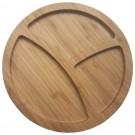 Tava rotunda pentru servire HB-2050, bambus, 25.4 x 1.9 cm