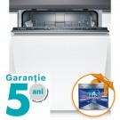 Masina de spalat vase incorporabila Bosch SMV25AX01E, 12 seturi, 5 programe, clasa A++, latime 60 cm, alb