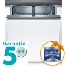 Masina de spalat vase incorporabila Bosch SMV45AX00E, 12 seturi, 5 programe, clasa A++, latime 60 cm, alb
