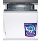 Masina de spalat vase incorporabila Bosch SMV24AX00E, 12 seturi, clasa A+, 4 programe, latime 60 cm, alb
