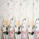 Perdea dus SWSC-151, model floral, alb / galben, 200 x 180 cm