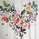 Perdea dus SWSC-1101, model fluturi, multicolor, 200 x 180 cm
