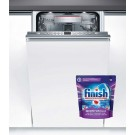 Masina de spalat vase incorporabila Bosch SPV66TX01E, 10 seturi, clasa A+++, 6 programe, latime 45 cm, alb