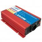 Invertor de tensiune PNI, 1200 W, intrare 12 V, iesire 230 V, USB + cablu alimentare